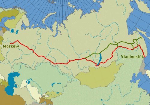 trans siberian railroad map1 Google Video Maps The Trans Siberian Railway