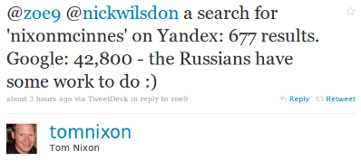 nixon twitter Exploring The New Yandex Index